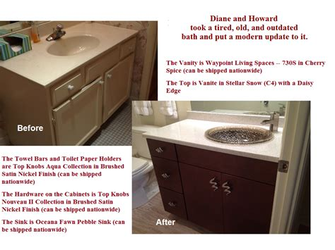 kitchen cabinet factory outlet diane and howards bath project before and after