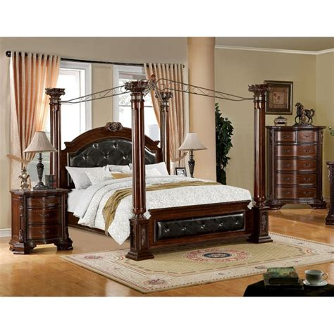 wilshire bedroom set furniture of america wilshire 3 piece king bedroom set in