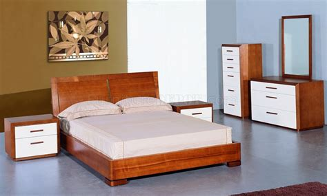 teak bedroom set teak and white lacquer finish modern two tone bedroom set