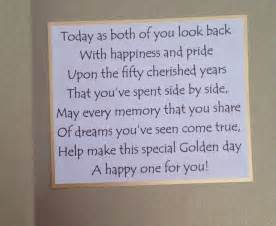 inside of golden wedding anniversary card the sentiment 50th wedding anniversary ideas