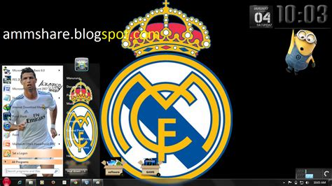 free download themes for windows 7 real madrid theme real madrid for windows 7 amm share
