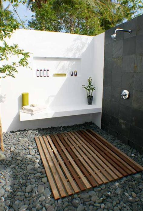 outdoor shower drainage ideas interesting ideas  home