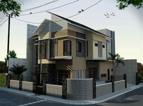 ide desain taman depan rumah pojokan arsitektur arsitektur me