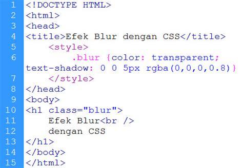 kursus design grafis tebet membuat efek blur dengan css