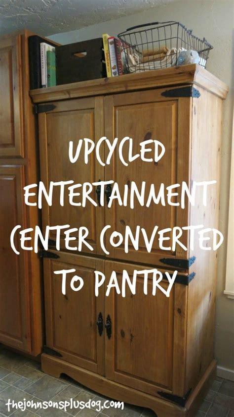 diy pantry   repurposed entertainment center diy