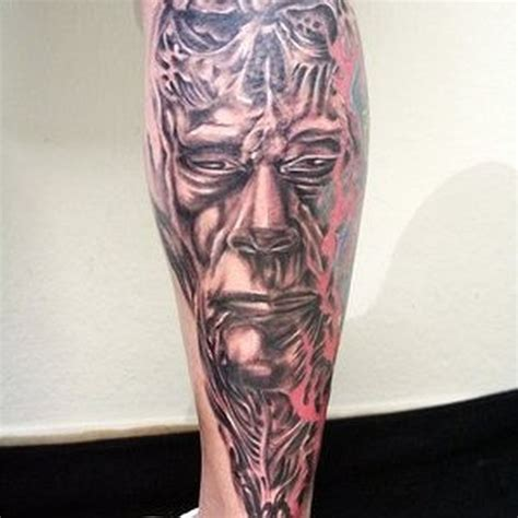 biomechanical calf tattoo for men tattoos book 65 000