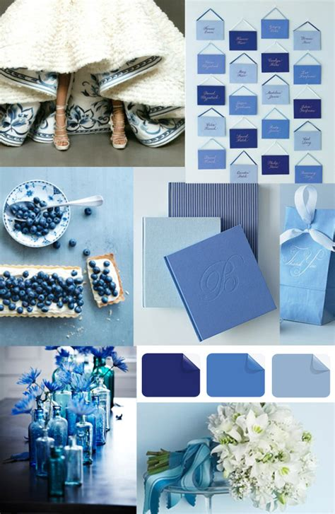 wedding color trends blue wedding ideas and invitations