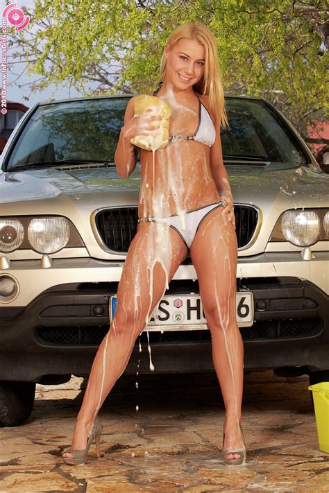 Pinkfineart Nikky Naughty Carwash From Infocusgirls