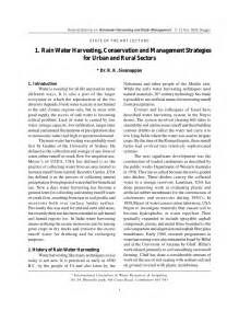 Safe Water Essay by India Water Harvesting Conservation And Management Strategies