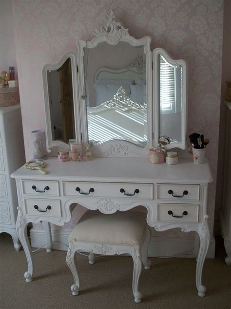 girls vanities for bedroom amazing white wooden tri fold dresser vanity makeup table with 5 drawer and stool for decorate