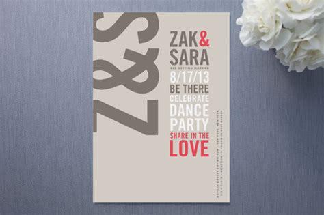 invitation design typography modern typography wedding invitations type stack