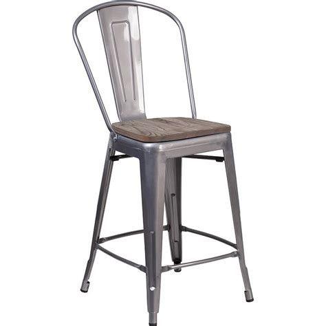 24 high counter stools 24 quot high clear coated counter height stool with back and