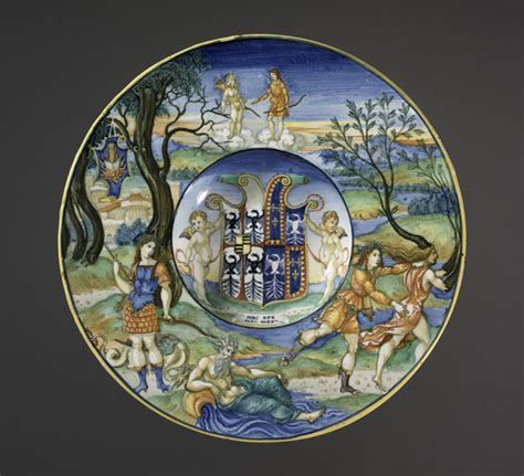 italian ceramic the maiolica pavement tiles of the fifteenth century with illustrations classic reprint books nicola da urbino maiolica plate with the legend of apollo