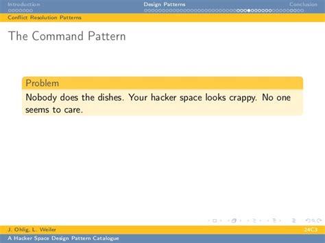 design pattern hacker news building a hacker space a design pattern catalogue