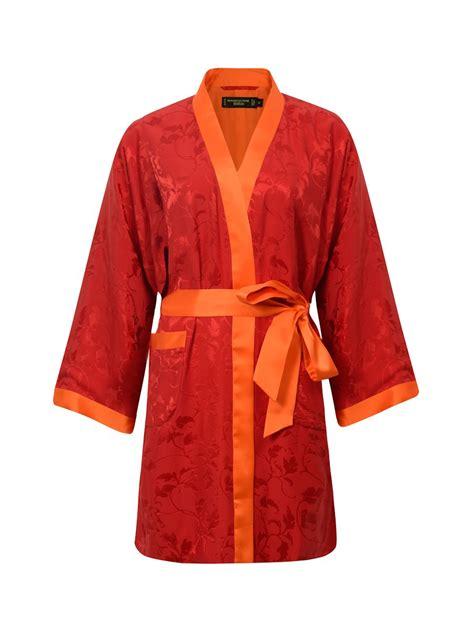 kimono leaf pattern silk short kimono with leaves pattern