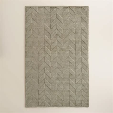 Gray Chevron Area Rug Gray Chevron Carved Wool Bennet Area Rug World Market