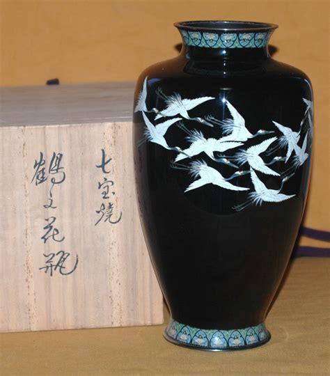Antique Japanese Vase Value by Antique Japanese Taisho Period Cloisonne Crane Vase For