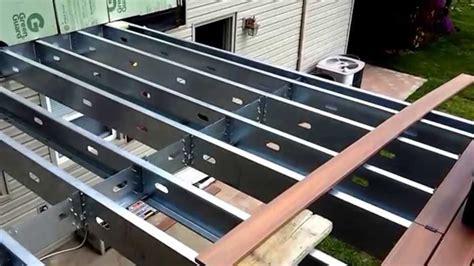 steel frame deck  wayne  jersey  bergen decks youtube