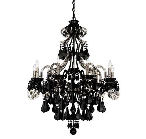 Black Chandelier Lighting by Photos Schonbek Cappela 9 Light Black Chandelier In