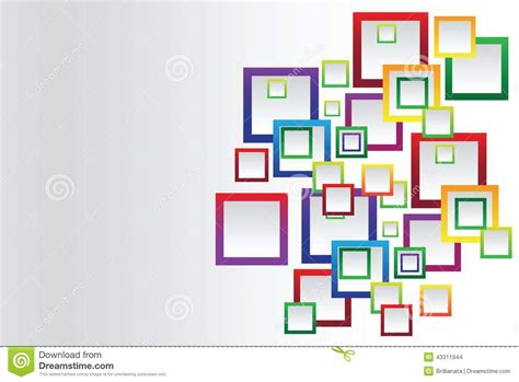 design is square colorful square blank background stock vector image