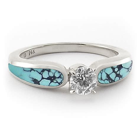 Wedding Rings With Turquoise by Gold And Turquoise Wedding Rings Turquoise And 33 Ct