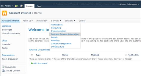 sharepoint top link bar sivasankar blog branding sharepoint 2010 top navigation