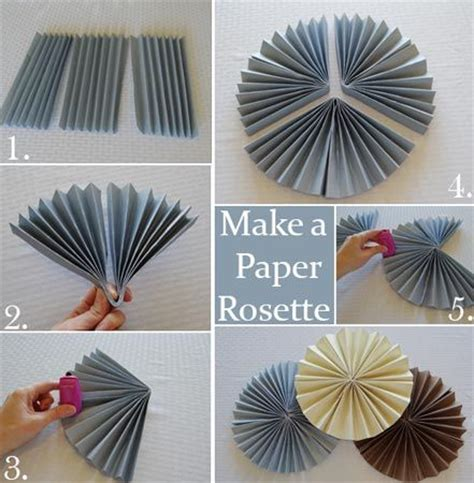 How To Make A Rosette Out Of Paper - 25 best ideas about paper decorations on