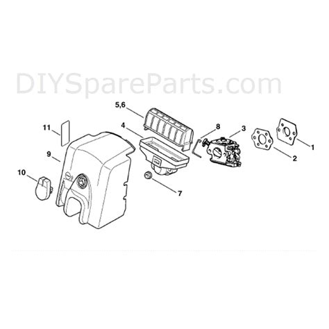 stihl ms 210 parts diagram stihl ms 210 chainbsaw ms210 parts diagram air filter