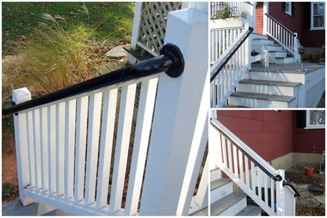 Exterior Banister by Easy To Install Outdoor Stair Railing