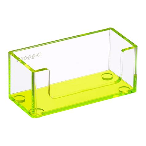 Leafy Card Holder poppin neon green acrylic business card holder the