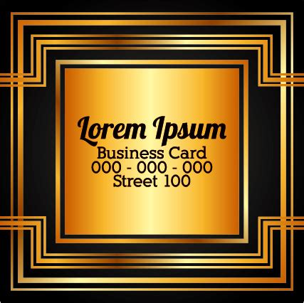 gold business card template free luxury gold business cards template vector free vector in