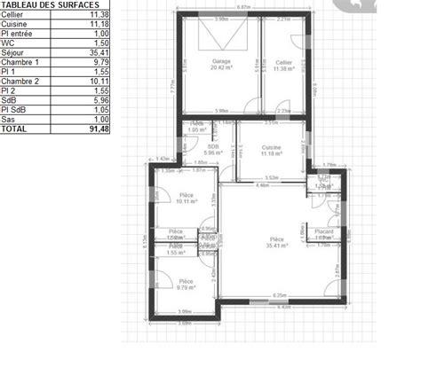 plan cuisine 11m2 m de surface de plancher et deux chambres pour sr je