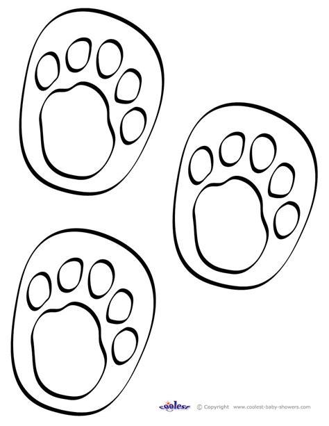 printable animal feet printable footprints clipart best