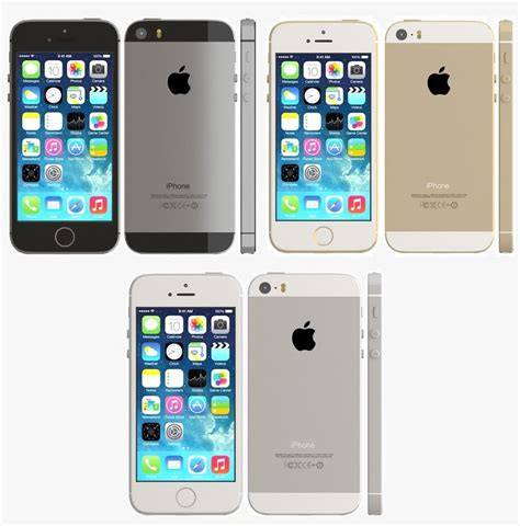 iphone 5s color 3d iphone 5s color model