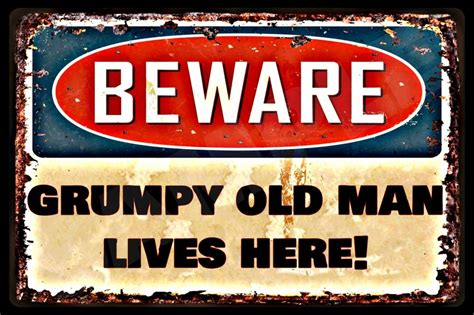 buy downward dog metal sign framed with rustic barnwood warning grumpy old man lives here made in usa metal
