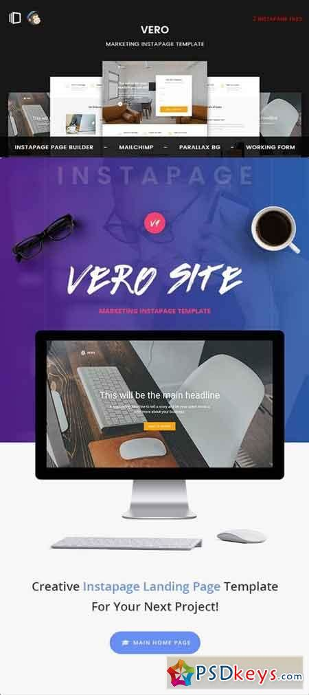 Vero Marketing Instapage Template 19826937 187 Free Download Photoshop Vector Stock Image Via Free Instapage Templates