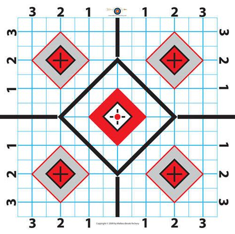 printable targets sighting in 100 yard rifle paper target great for sighting in scope 8