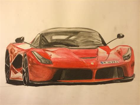 ferrari laferrari sketch drawing a ferrari laferrari youtube