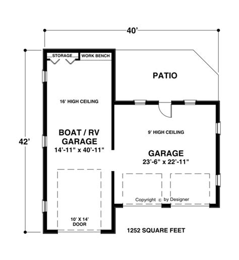rv garage floor plans denny garage plans for boats