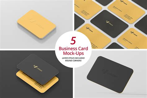 business cards rounded corners template business card mock ups corners product mockups on