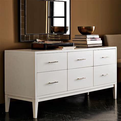 narrow leg 6 drawer dresser white west elm