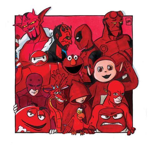separado por colores  personajes famosos de peliculas