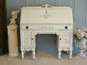 white desk secretary the shabby chic furniture painted