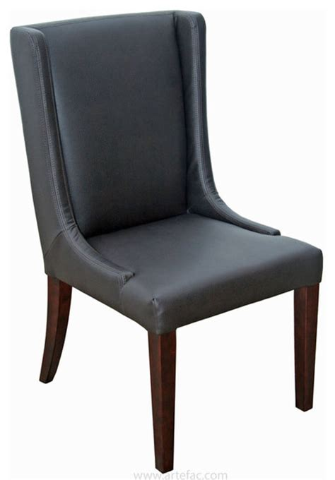 Gray Leather Dining Room Chairs Wing Back Leather Dining Room Chair In Grey Brown And Brown Contemporary Dining