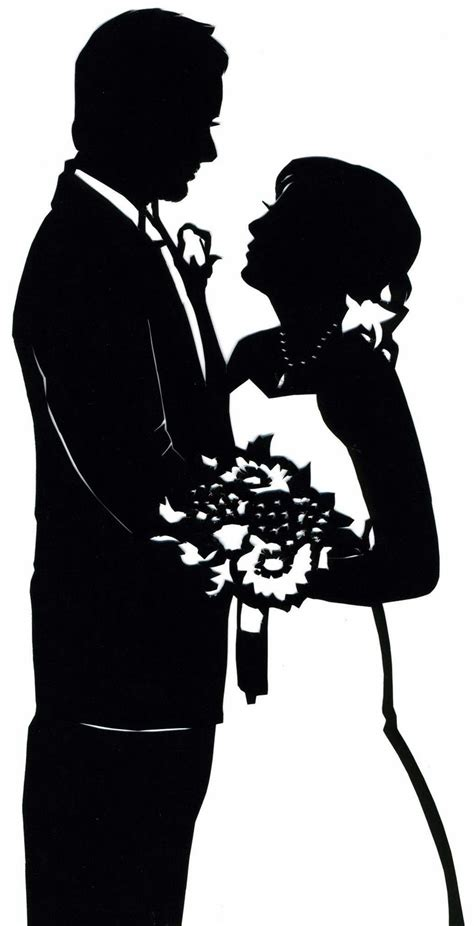 Wedding Siluet paperportraits custom wedding silhouette