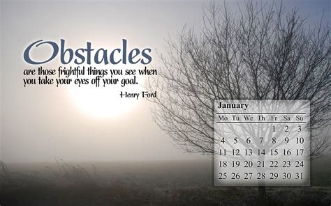 Inspirational Calendar Wallpaper