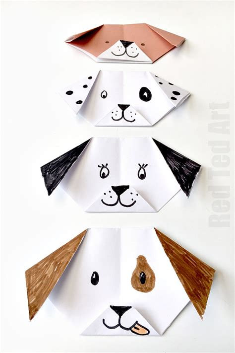 How To Make A Paper Puppy - easy origami puppy ted s