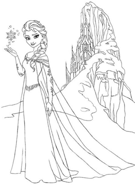 frozen coloring page disney pinterest