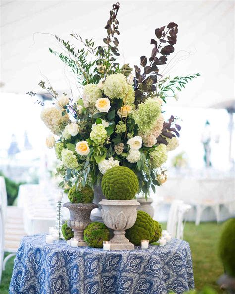 Floral Centerpieces by Green Wedding Centerpieces Martha Stewart Weddings