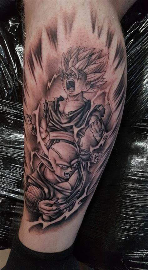 gohan tattoo gohan and piccolo tattoos ideas